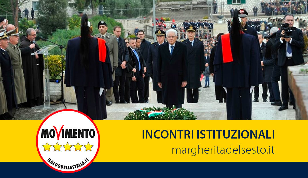 Incontro con il Presidente della Repubblica al 75° Anniversario della Battaglia di Montelungo