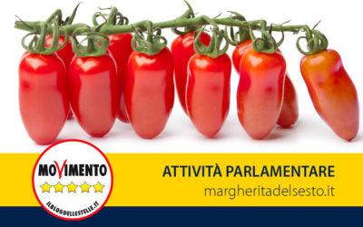 """Pomodoro San Marzano """"DOP"""". Relazione su proposta di Legge"""