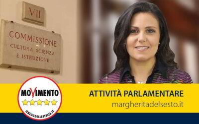 Grande Progetto Pompei. Relatrice in VII Commissione